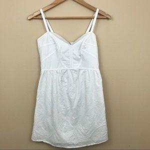 Apostrophe White Summer Mini Dress Sz 2 B68
